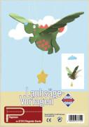 PEBARO Laubsägevorlage Mobilé fliegender Drache, Flugtier