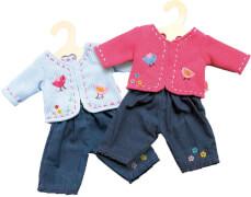 Puppen-Jacke mit Jeans 35 - 45 cm, sortiert