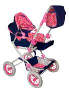 Amia Puppenwagen Flower, pink/blau