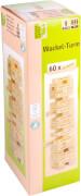 Natural Games Wackelturm mit 60 Spielsteinen, Geschicklichkeitsspiel, ca. 32x10x10 cm, ab 1 Spieler, ab 5 Jahren