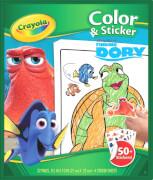 Crayola Findet Dory Color und Stickerbook, ab 3 Jahren