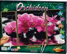 Schipper Malen nach Zahlen - Orchideen (Triptychon) 50 x 80 cm