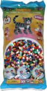 HAMA Bügelperlen Midi - Vollton Mix 6000 Perlen (22 Farben)