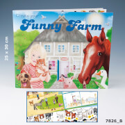 Depesche 7826 Create your Funny Farm - Malbuch mit Stickern