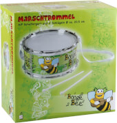 Boogie Bee Marschtrommel mit Trommelstöcken, Durchmesser 20,5 cm, Kinderinstrument, ab 3 Jahren