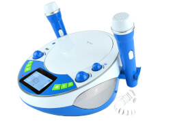 Bluetooth Karaoke Kinder Player blau