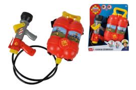 Simba Feuerwehrmann Sam - Feuerwehr-Tankrucksack, 1,8 l, Reichweite ca. 10 m, ca. 37x31x10 cm, ab 3 Jahre