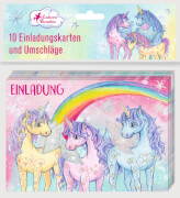 Einladungskarten Einhorn-Paradies (10 Ex. mit Umschlägen)