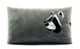 NICI Kissen Waschbär 43x25cm, rechteckig