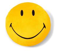 NICI Kissen Smiley gelb #35cm rund